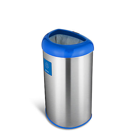 Nine Stars 13.2g Open Top Trash Can, Recycle (OTT-50-19BL)