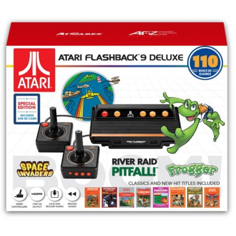 ATARI Flashback 9 Deluxe Game Console with Bonus SD Card