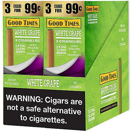 Good Times White Grape Cigarillos (2 boxes, each 3 pk., 15 ct.)
