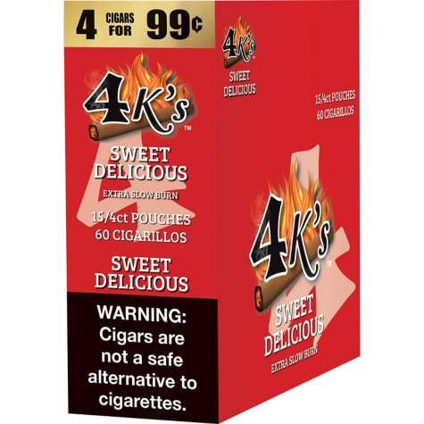 4K's Sweet Delicious Cigarillos (15/4 pk., 60 ct.)