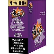 4K's Napa Grape Cigarillos (15/4 pk., 60 ct.)