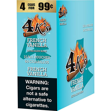 4K's French Vanilla Cigarillos (15/4 pk., 60 ct.)