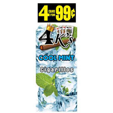 4K's Cool Mint Cigars, Prepriced 4 for $0.99 (60 ct.)