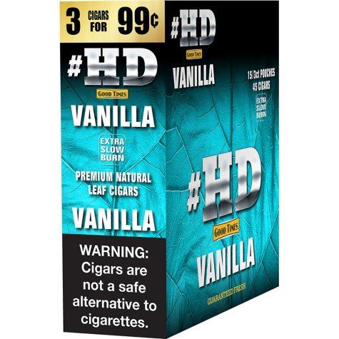 #HD Vanilla Cigars, Prepriced 3 for $0.99 (45 ct.)