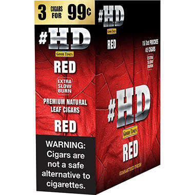 # HD Red Cigars, Prepriced 3 for $0.99 (45 ct.)