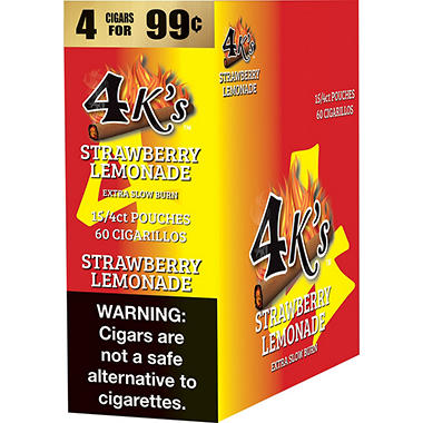 4K's Strawberry Lemonade Cigarillos (15/4 pk., 60 ct.)