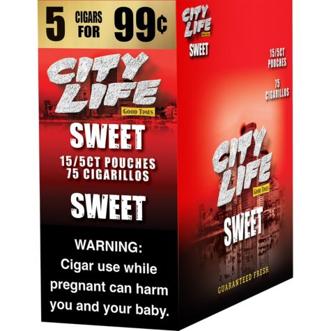 Good Times Sweet Quickie Cigarillos (5 per pouch, 15 ct.)