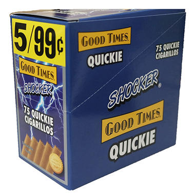 Good Times Quickie Cigarillos, Shocker (5 per pouch, 15 ct.)
