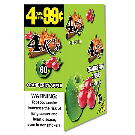 4K's Cranberry Apple Cigars 4 for $.99 (15/4pk., 60 ct.)