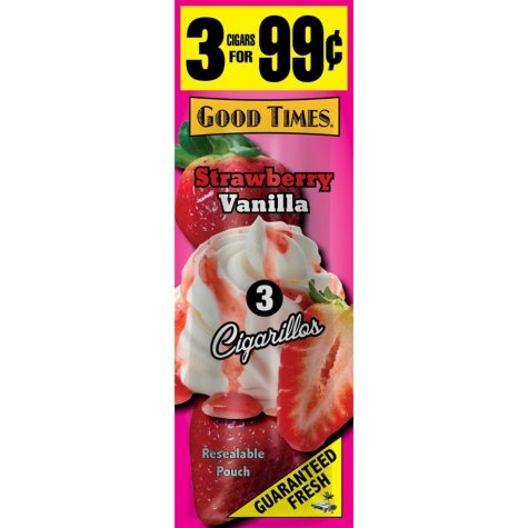 Good Times Strawberry Vanilla Cigars 3 for $.99 (15/3pk., 45 ct.)
