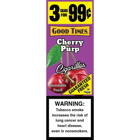 Good Times Cherry Purple Cigars 3 for $.99 (15/3pk., 45 ct.)