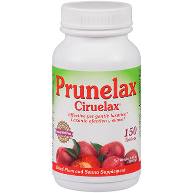 Prunelax Dried Plum & Senna Supplement Tablets - 150 ct.