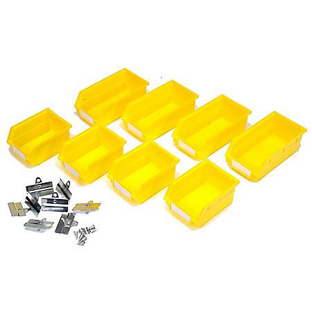 8 Piece Small & Medium Yellow Bins