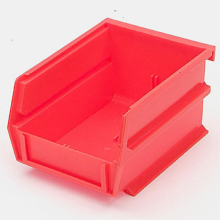 "10 Piece Red Bins - 5-3/8"" L x 1/8"" W x 3"" H"
