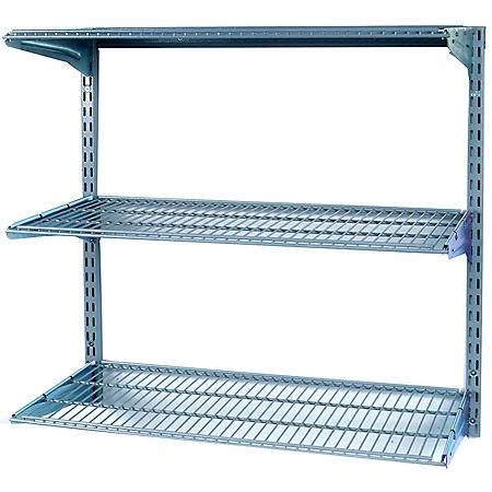 "34"" x 32"" Wall-Mount 3-Shelf Unit"