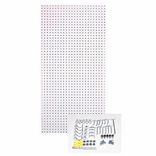 White Pegboard Hook Kit
