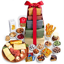 Holiday Extravaganza Fruit, Chocolate and Gourmet Gift Tower