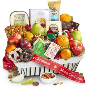 Gourmet Christmas Snacks and Treats Basket