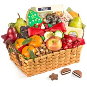 Fresh Fruit and Snacks Gourmet Gift Basket