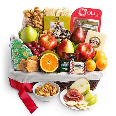 christmas tidings gift basket