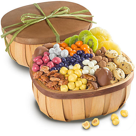 Chocolate, Candy and Nuts Gourmet Snack Basket
