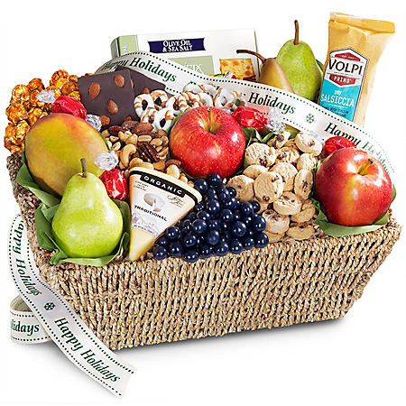 Flavors to Savor Fruit & Gourmet Treats Gift Basket