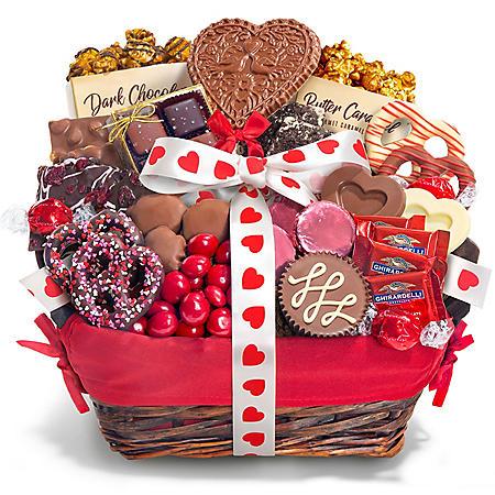 Valentine Chocolate Decadence Gift Basket