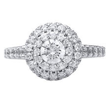 1.71 CT. TW. Round Cut Diamond Double Halo Ring in 14K White Gold (I, I1)