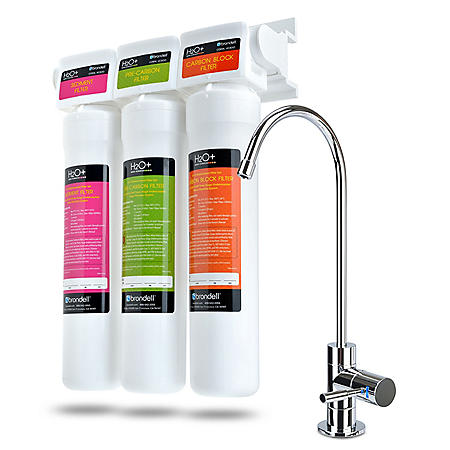 Brondell H2O+ Coral Three-Stage Undercounter Water Filtration System