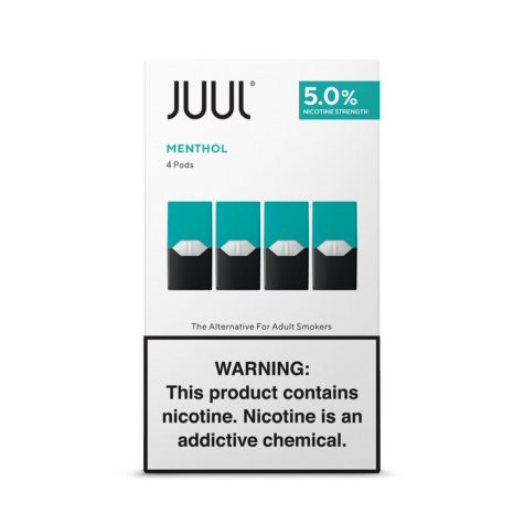 JUUL E-Liquid Classic Menthol Flavor 5% Nicotine Pod (4 pk.)