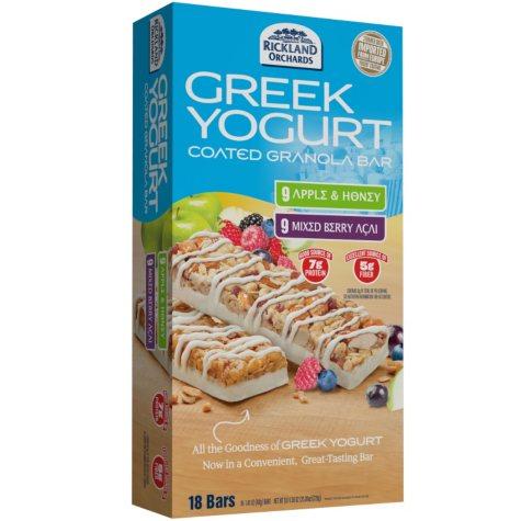 Greek Yogurt Coated Granola Bars - Apple & Honey/Mixed Berry Acai - 18 ct.