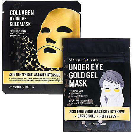 Masqueology Gold Gel Mask Set (12 ct.)
