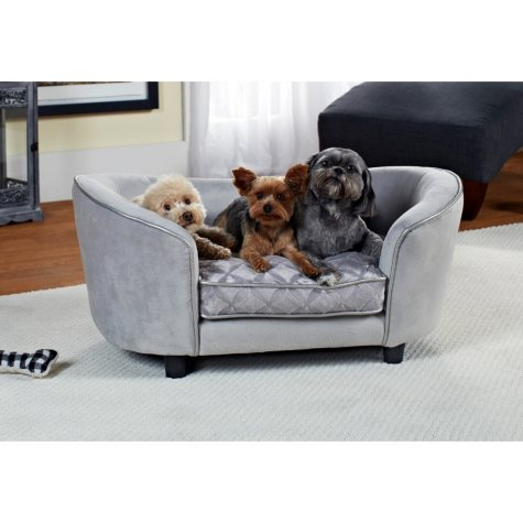 Enchanted Home Pet Ultra Plush Quicksilver Pet Bed