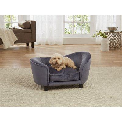 Enchanted Home Pet Ultra Plush Snuggle Sofa Bed Dark Grey Sams