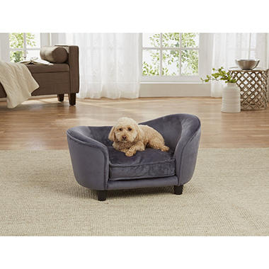 Enchanted Home Pet Ultra Plush Snuggle Sofa Bed Dark Grey