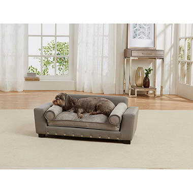 Enchanted Home Pet Scout Lounge Sofa Bed, Grey