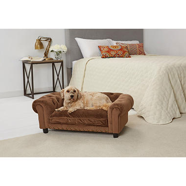 Enchanted Home Pet Melbourne Tufted Sofa Bed, Brown