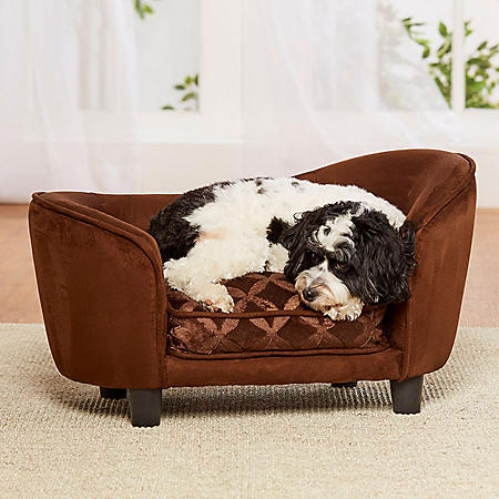 Enchanted Home Pet Ultra Plush Snuggle Sofa, Brown, Small Dogs Up To 10 lbs