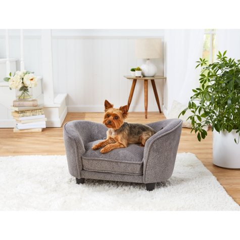 Enchanted Home Pet Snuggle Dog Sofa, Gray (Small)