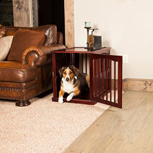Primetime Petz End Table Crate, Walnut (Choose Your Size)