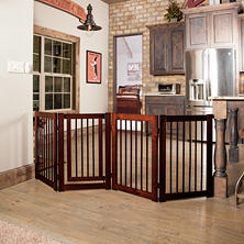 Primetime Petz 360 Configurable Pet Gate, Walnut (Choose Your Size)