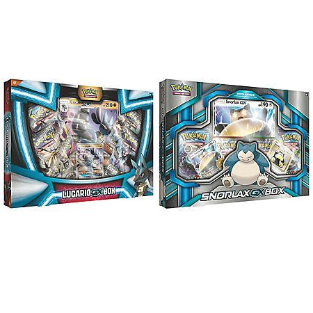 Pokémon Tapu Koko Figure Collection and Shiny Tapu Koko-GX Box or Snorlax-GX Box and Lucario-GX Box