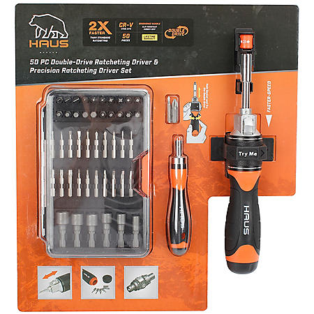 Haus 50-Piece Ratcheting Driver Set
