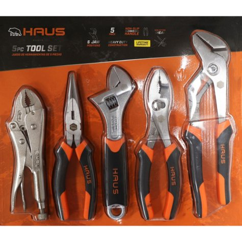 Haus 5-Piece Pliers & Wrench Set