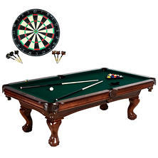 "Barrington 100"" Premium Billiard Table With Bonus Dart Board"
