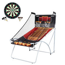 ESPN EZ-Fold Two-Player Basketball Game with Bonus Dartboard Set