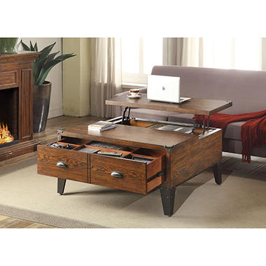 wellington lift-top coffee table - sam's club