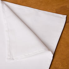 American Dawn Rectangle White Tablecloth - 6 pk.