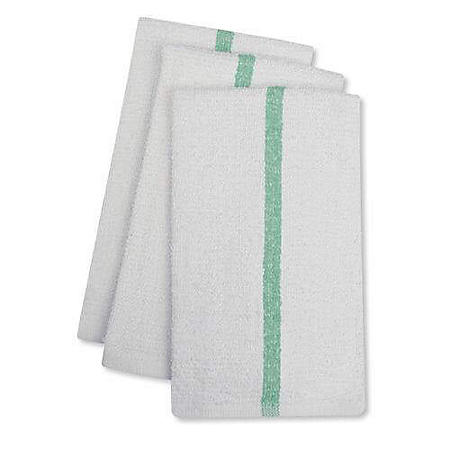 "Bar Mops with Green Center Stripe, 17"" x 20"" (24 pk.)"