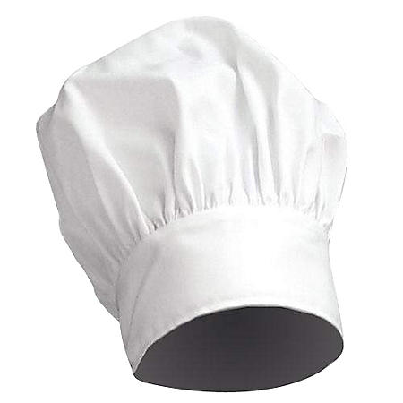 "Restaurant Quality Chef's Hat - 10"" Crown - White"